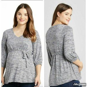 Isabel Maternity Striped Tie-Front Top Size XS NEW